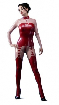 pearl latex catsuit