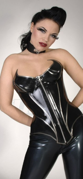 bat girl latex corsett