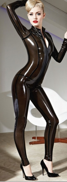 XTRR173244  Latex  rubber Catsuit