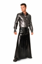buckle skirt full length latex männer rock